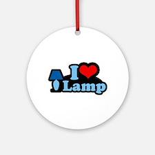 I heart lamp -  Ornament (Round)