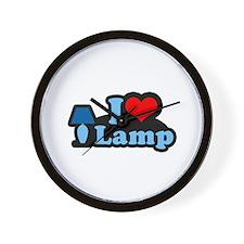 I heart lamp -  Wall Clock