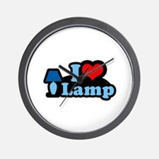 I heart lamp -  Wall Clock