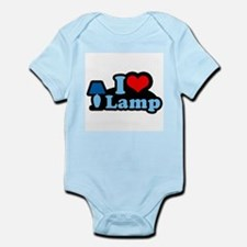 I heart lamp -  Infant Creeper
