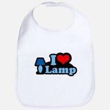 I heart lamp -  Bib