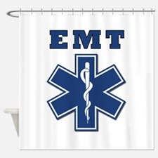 EMT Blue Star Of Life* Shower Curtain