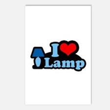 I heart lamp -  Postcards (Package of 8)