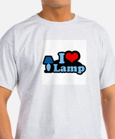I heart lamp -  Ash Grey T-Shirt