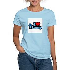 I heart lamp -  Women's Pink T-Shirt
