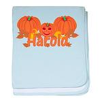 Halloween Pumpkin Harold baby blanket