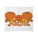 Halloween Pumpkin Harold Throw Blanket