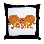 Halloween Pumpkin Harold Throw Pillow