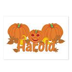 Halloween Pumpkin Harold Postcards (Package of 8)
