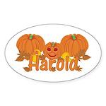 Halloween Pumpkin Harold Sticker (Oval)