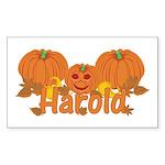 Halloween Pumpkin Harold Sticker (Rectangle)