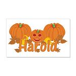 Halloween Pumpkin Harold 20x12 Wall Decal