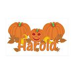 Halloween Pumpkin Harold 35x21 Wall Decal