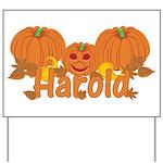 Halloween Pumpkin Harold Yard Sign