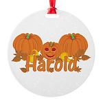 Halloween Pumpkin Harold Round Ornament