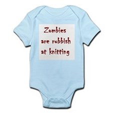 zombies are rubbish at knitting Infant Bodysuit