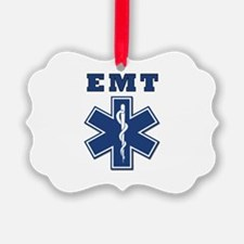 EMT Blue Star Of Life* Ornament