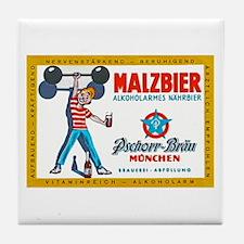 Germany Beer Label 8 Tile Coaster