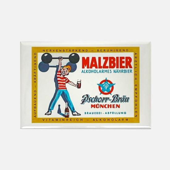 Germany Beer Label 8 Rectangle Magnet