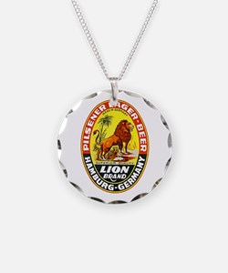 Germany Beer Label 7 Necklace
