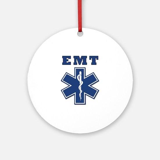 EMT Blue Star Of Life* Ornament (Round)