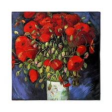 Van Gogh Red Poppies Queen Duvet