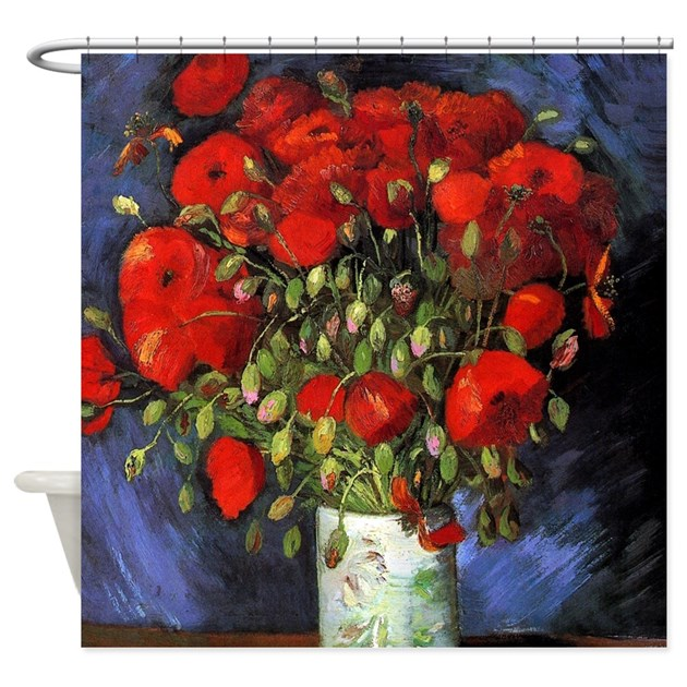 Van Gogh Red Poppies Shower Curtain By Iloveyou1