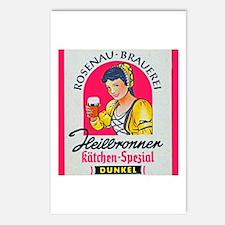 Germany Beer Label 5 Postcards (Package of 8)