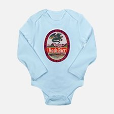 Germany Beer Label 3 Long Sleeve Infant Bodysuit