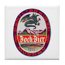 Germany Beer Label 3 Tile Coaster