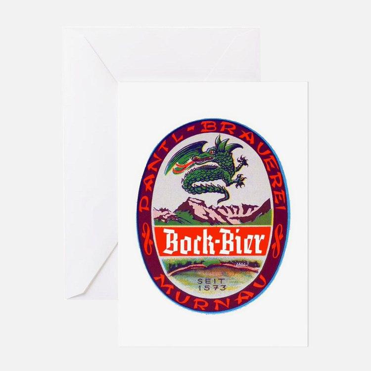 Germany Beer Label 3 Greeting Card