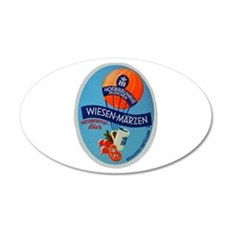Germany Beer Label 2 22x14 Oval Wall Peel