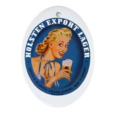 Germany Beer Label 1 Ornament (Oval)