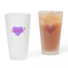 Grandma to the Third Power Drinking Glass