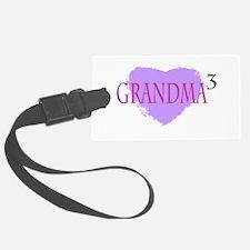 Grandma to the Third Power Luggage Tag