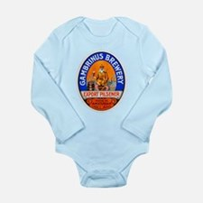 Holland Beer Label 8 Long Sleeve Infant Bodysuit