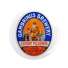 "Holland Beer Label 8 3.5"" Button (100 pack)"