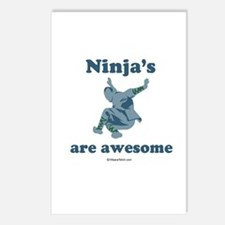 Ninja's are awesome -  Postcards (Package of 8)
