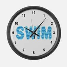 Wavy Swim Large Wall Clock