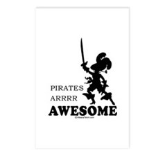 Pirates are awesome -  Postcards (Package of 8)