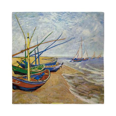 Van Gogh Fishing Boats Queen Duvet