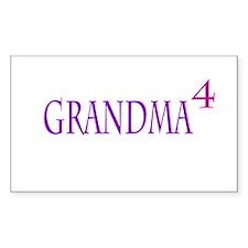 Grandma of Four Bumper Stickers