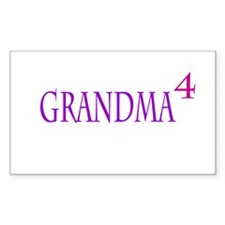 Grandma of Four Decal