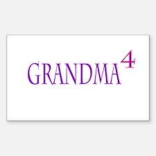 Grandma of Four Decal