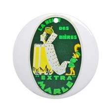 France Beer Label 10 Ornament (Round)