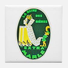 France Beer Label 10 Tile Coaster