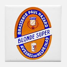 France Beer Label 9 Tile Coaster