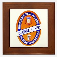France Beer Label 9 Framed Tile