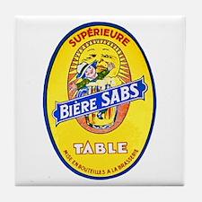 France Beer Label 8 Tile Coaster