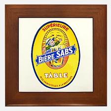 France Beer Label 8 Framed Tile